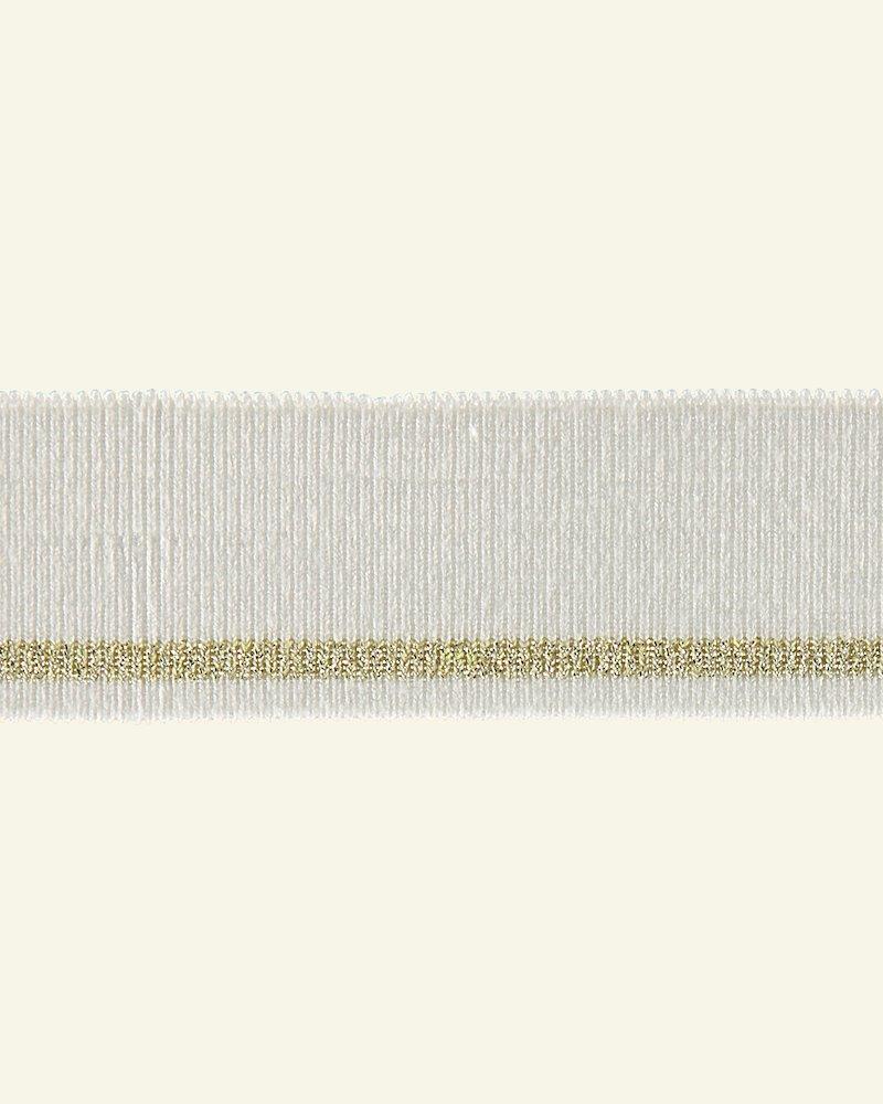1x1 Rippe 3,5x100cm Natur/Gold Lurex,St.