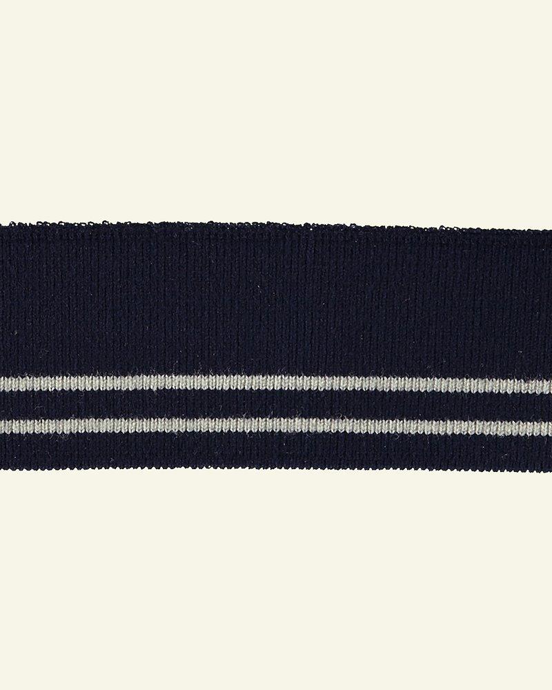 1x1 Rippe 3,5x100cm Blau/Natur, St.