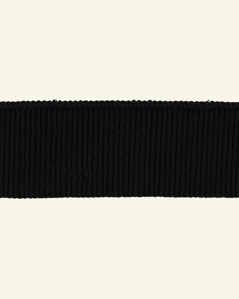 Rib-Jersey 2x2, 6x90cm Schwarz, 1 St.