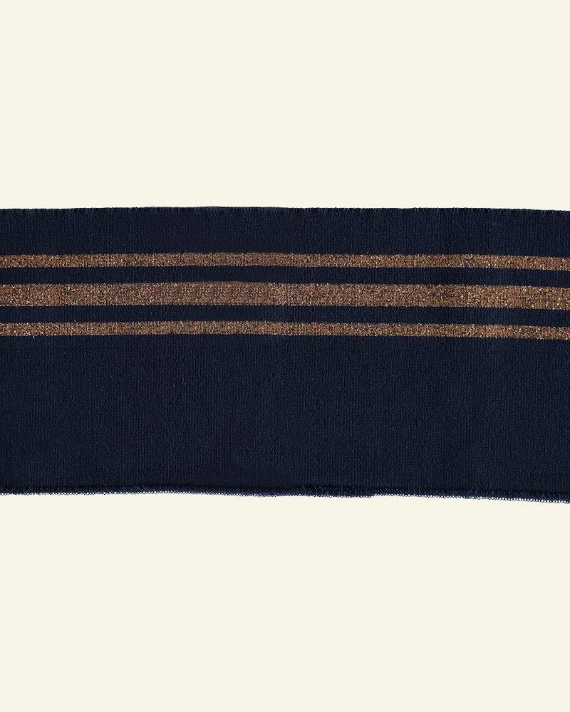 1x1 Faltenrippe 12x100cm Navy/Br. Lurex