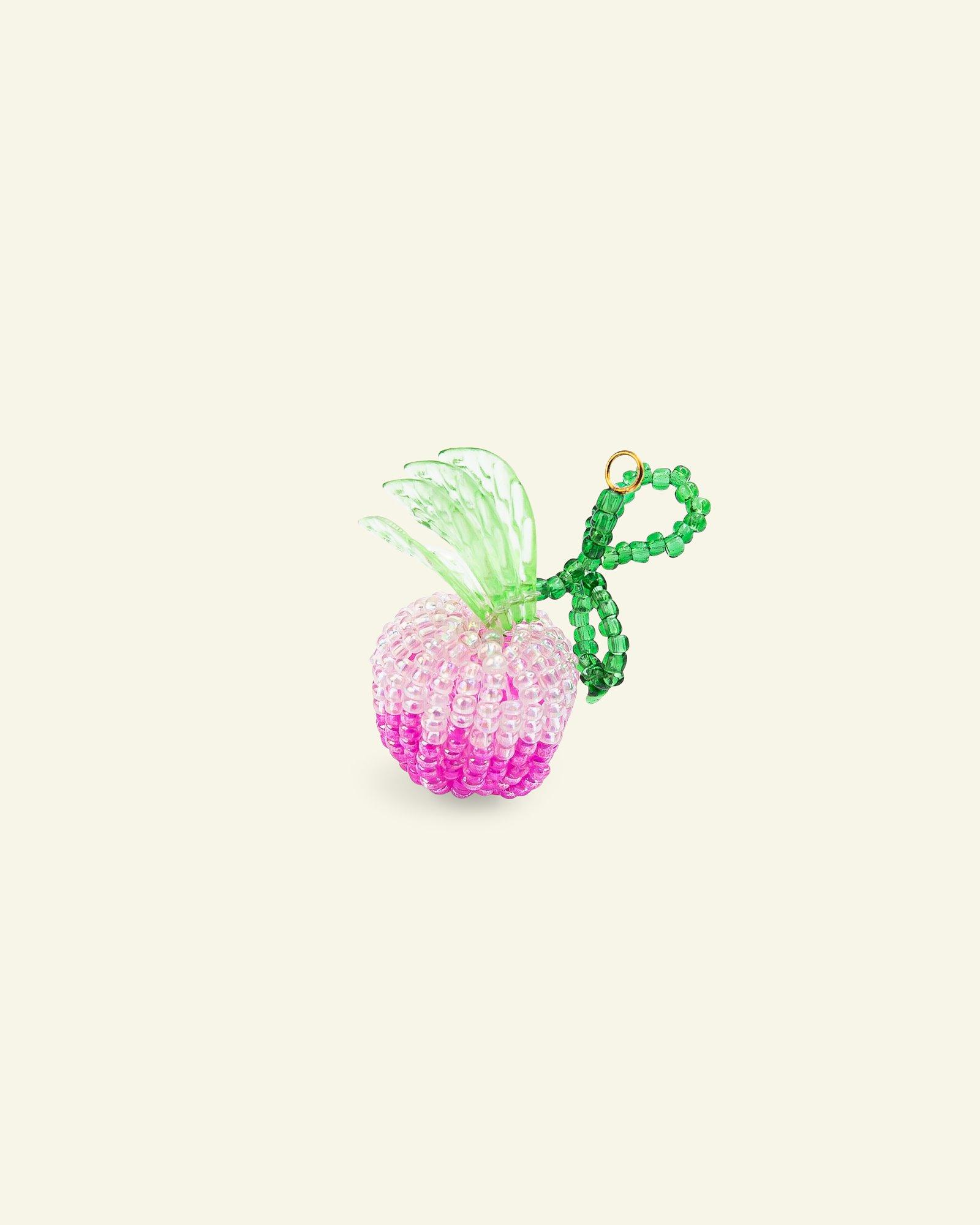 Pendant glass pearls apple 42x20mm 1pc