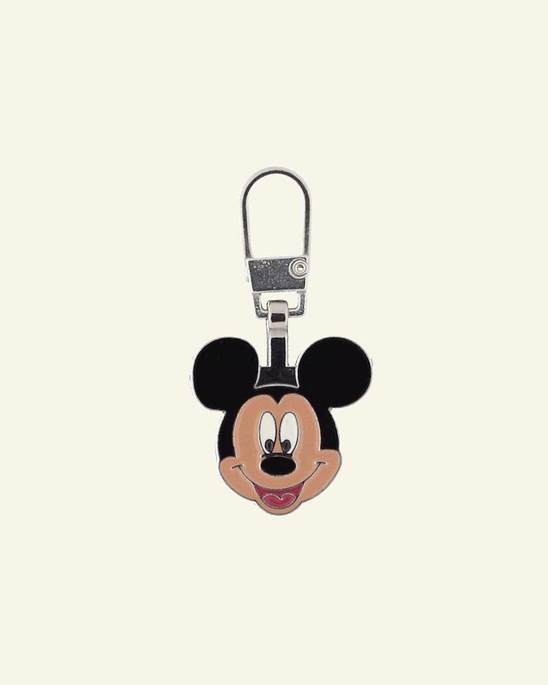 Zipper-pendant MICKEY MOUSE 20x20mm 1pc