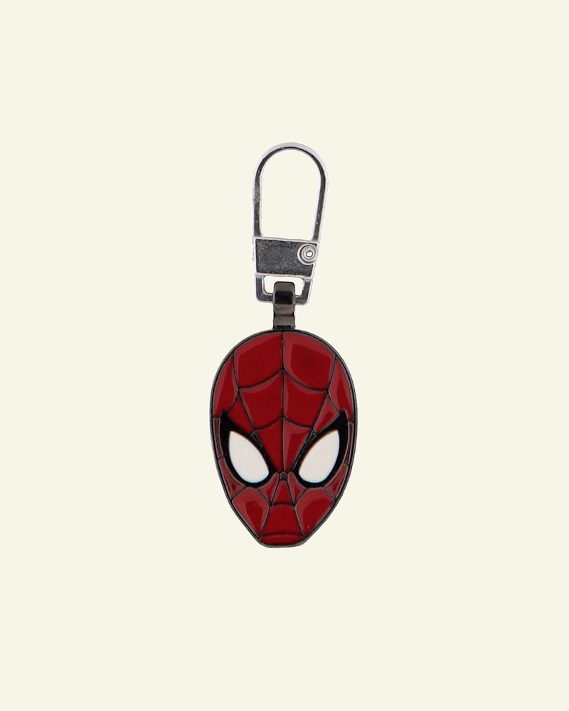 Zipper-pendant SPIDERMAN 22x25mm 1pc