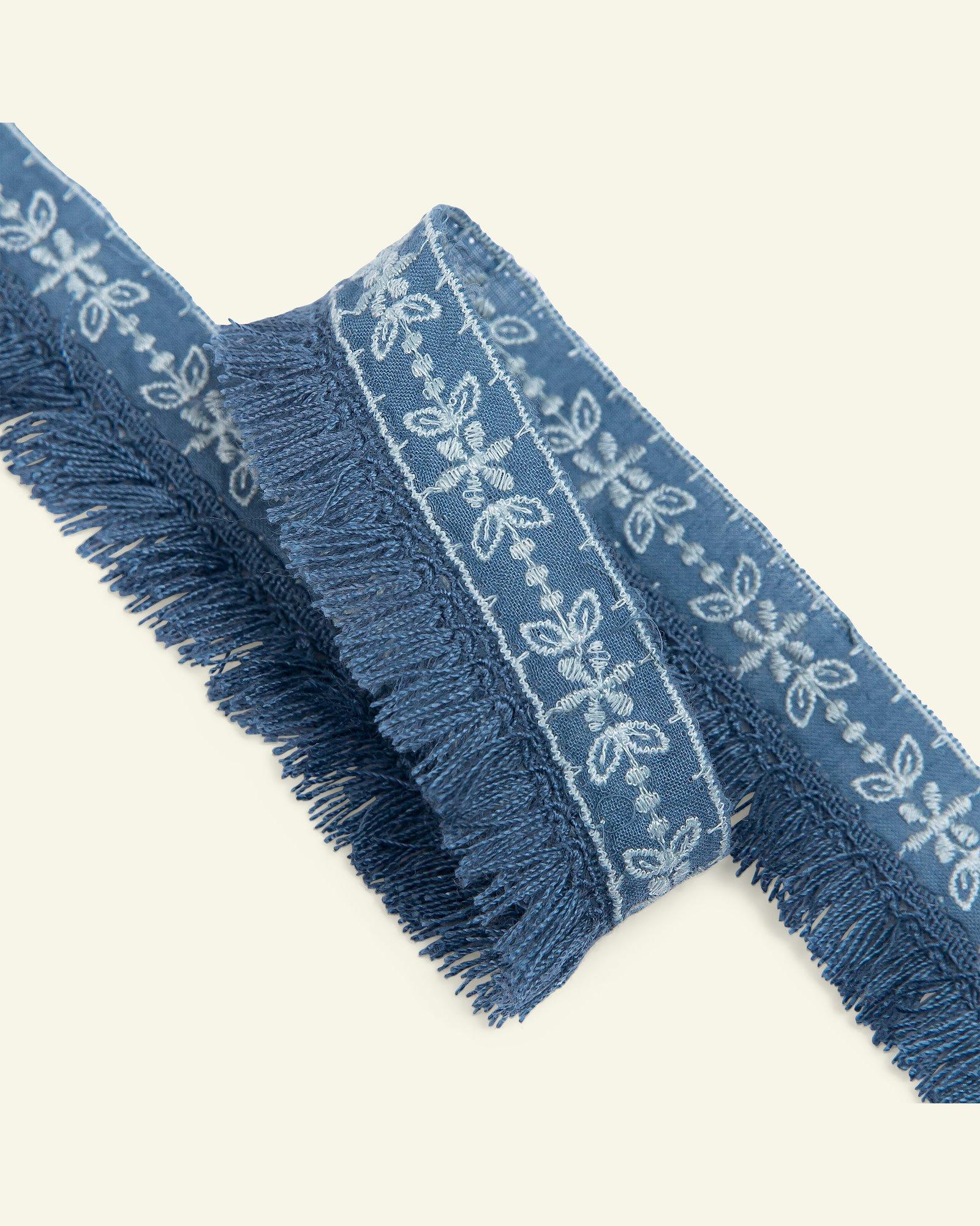 Ribbon woven w/fringes 30mm cobalt 1,5m