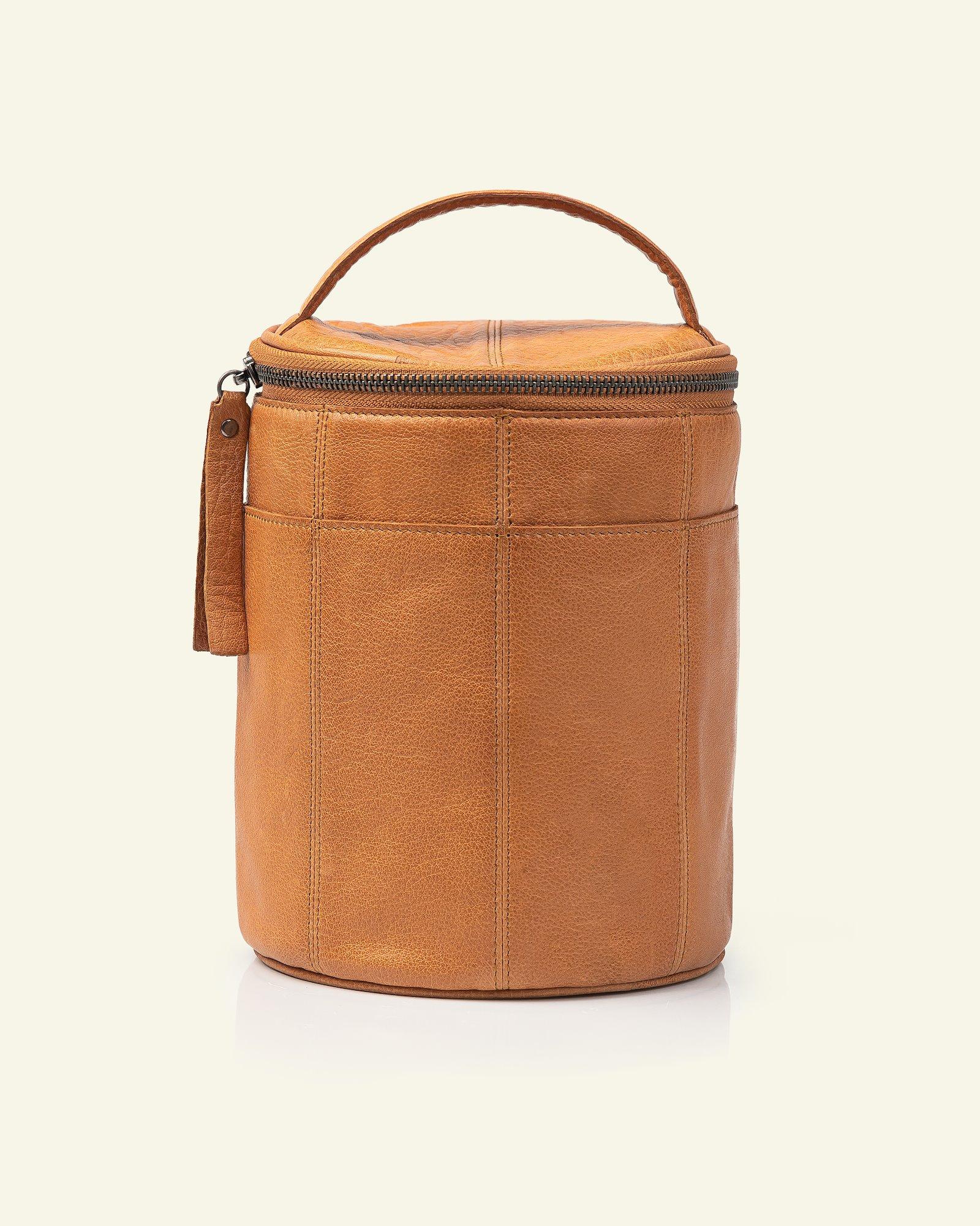 FRAYA leather bag Ø:16xH:21cm brown