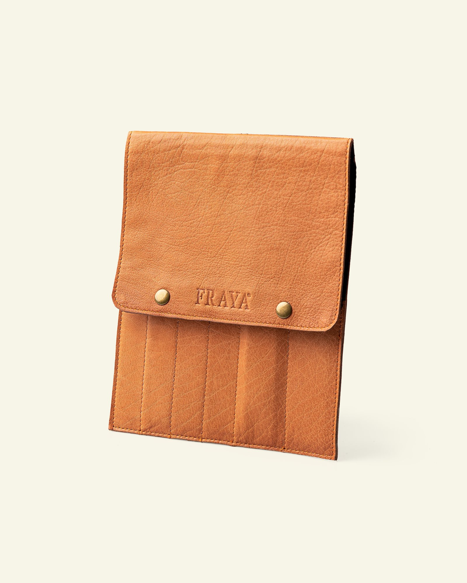 FRAYA leather sleeve, 24x18cm, brown