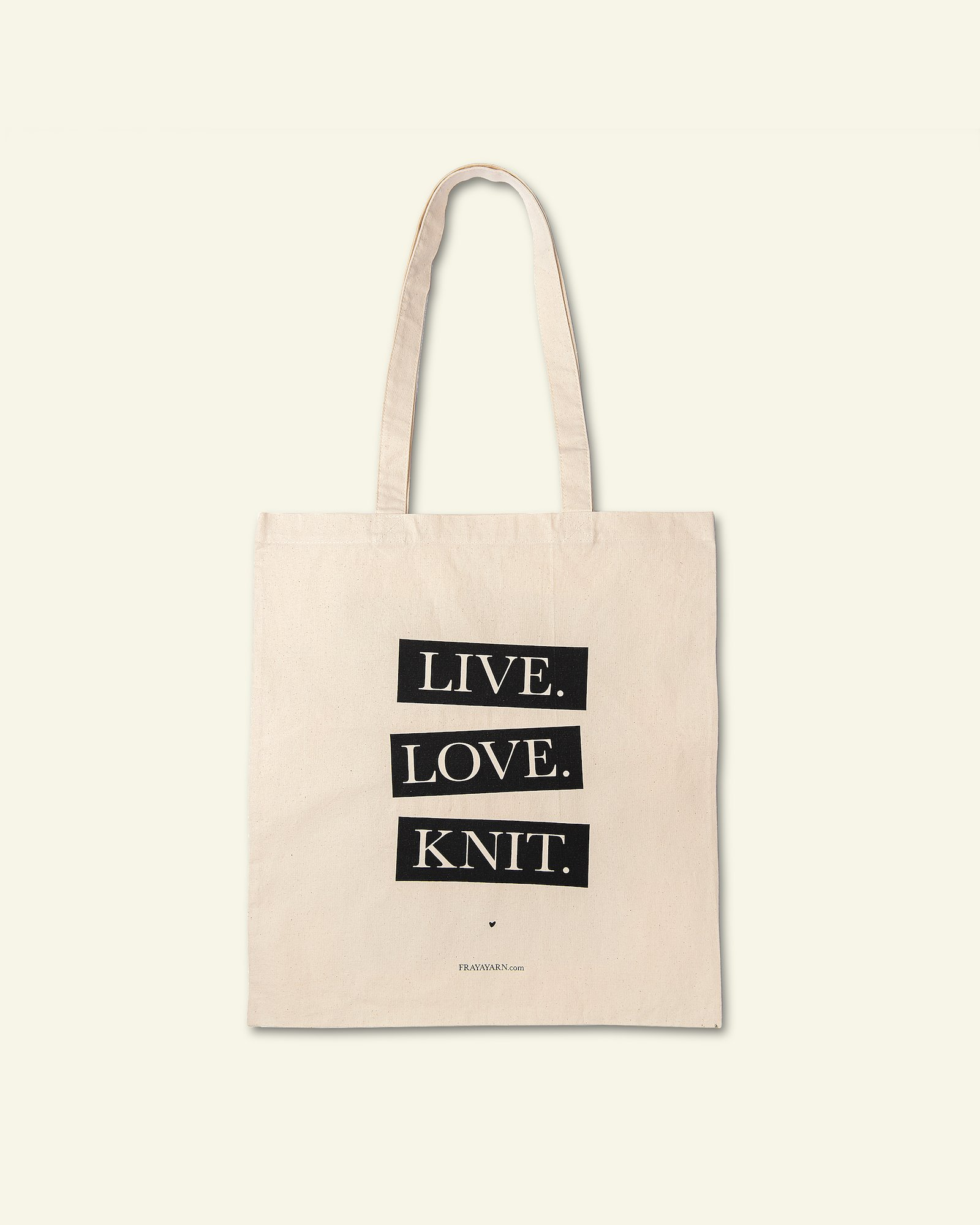 FRAYA Shopper 35x39cm; Live, Love, Knit