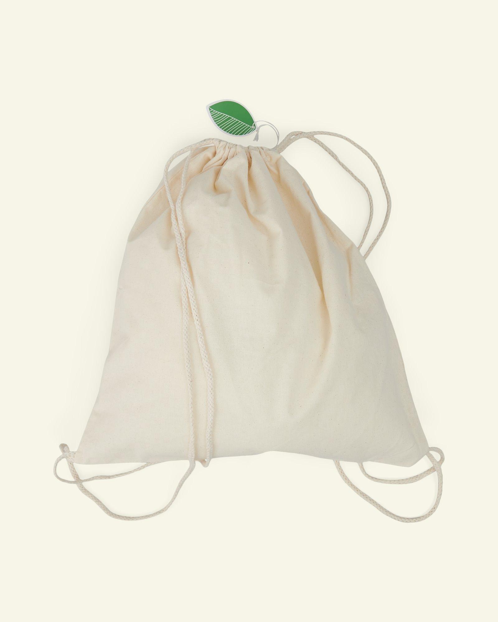 Organic cotton gym bag, 37*41 cm