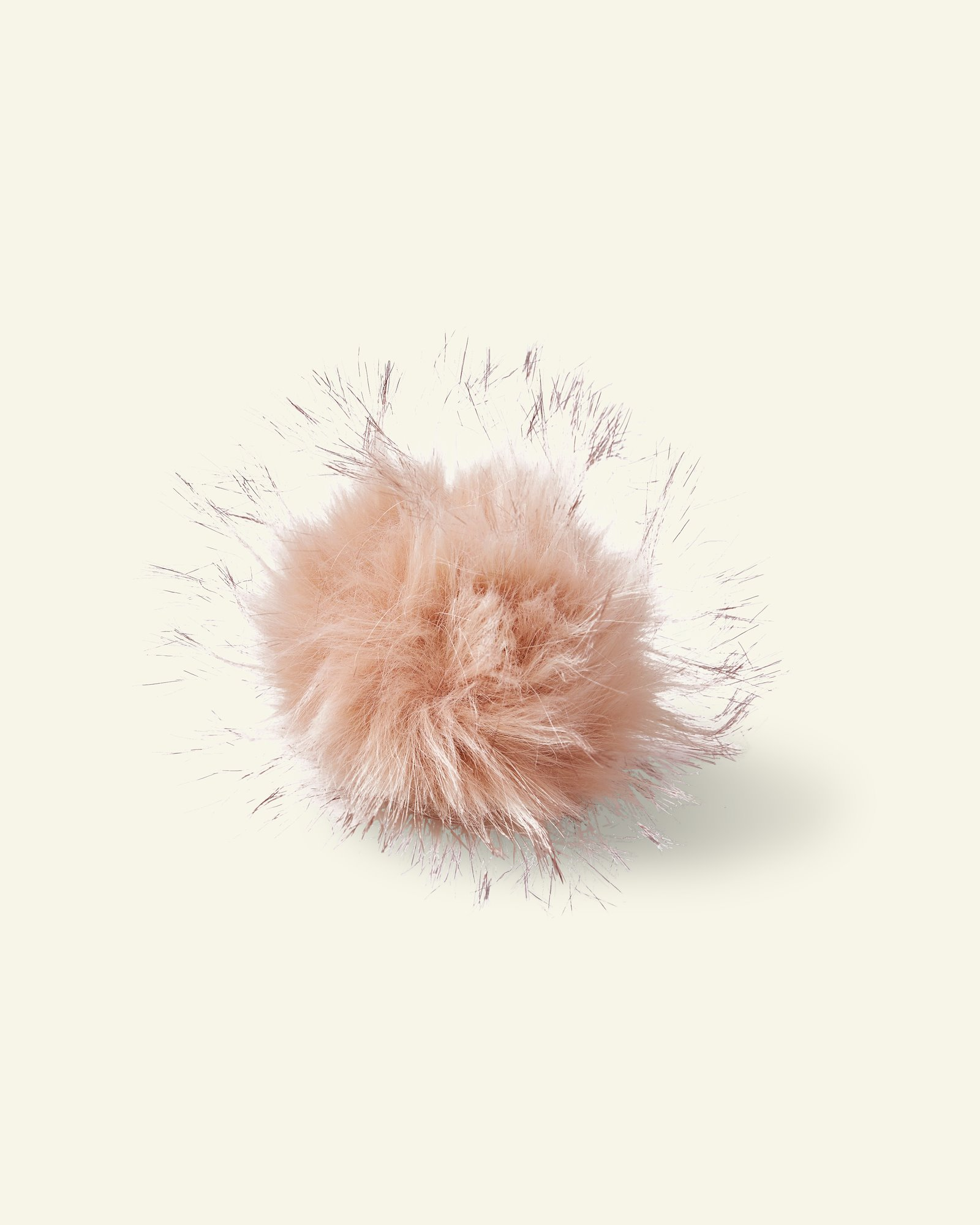 Abnehmb. Pompon 12 cm, Pelzimitat Rosa