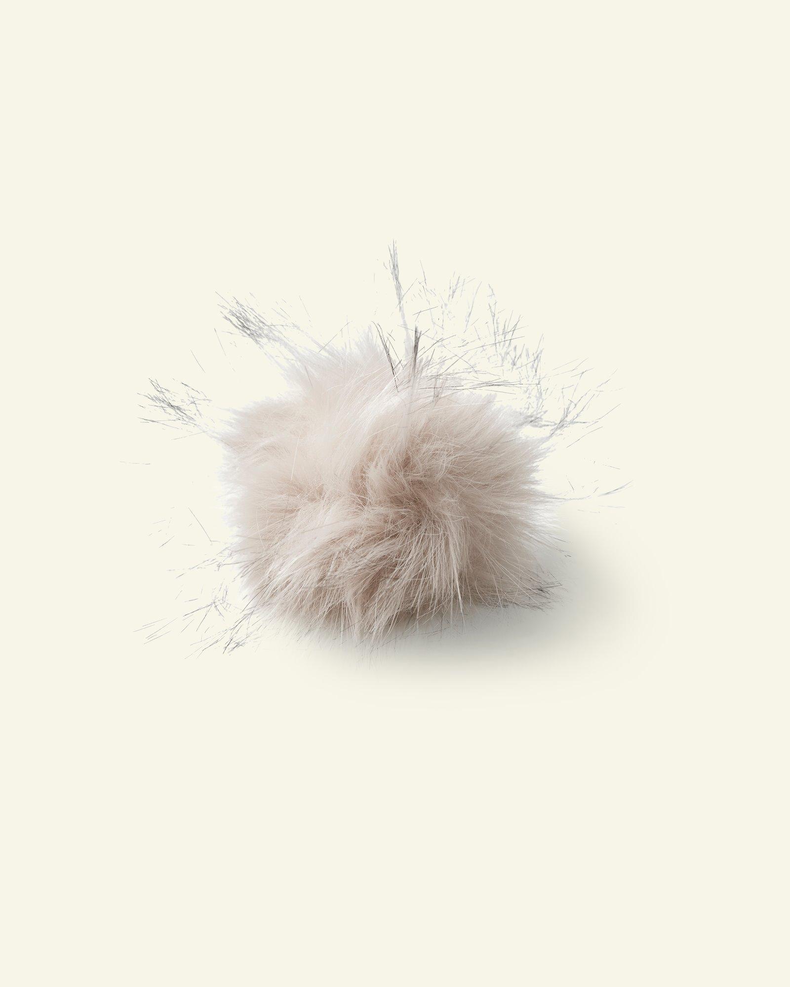 Pompon, 12cm Fellimitat Natur