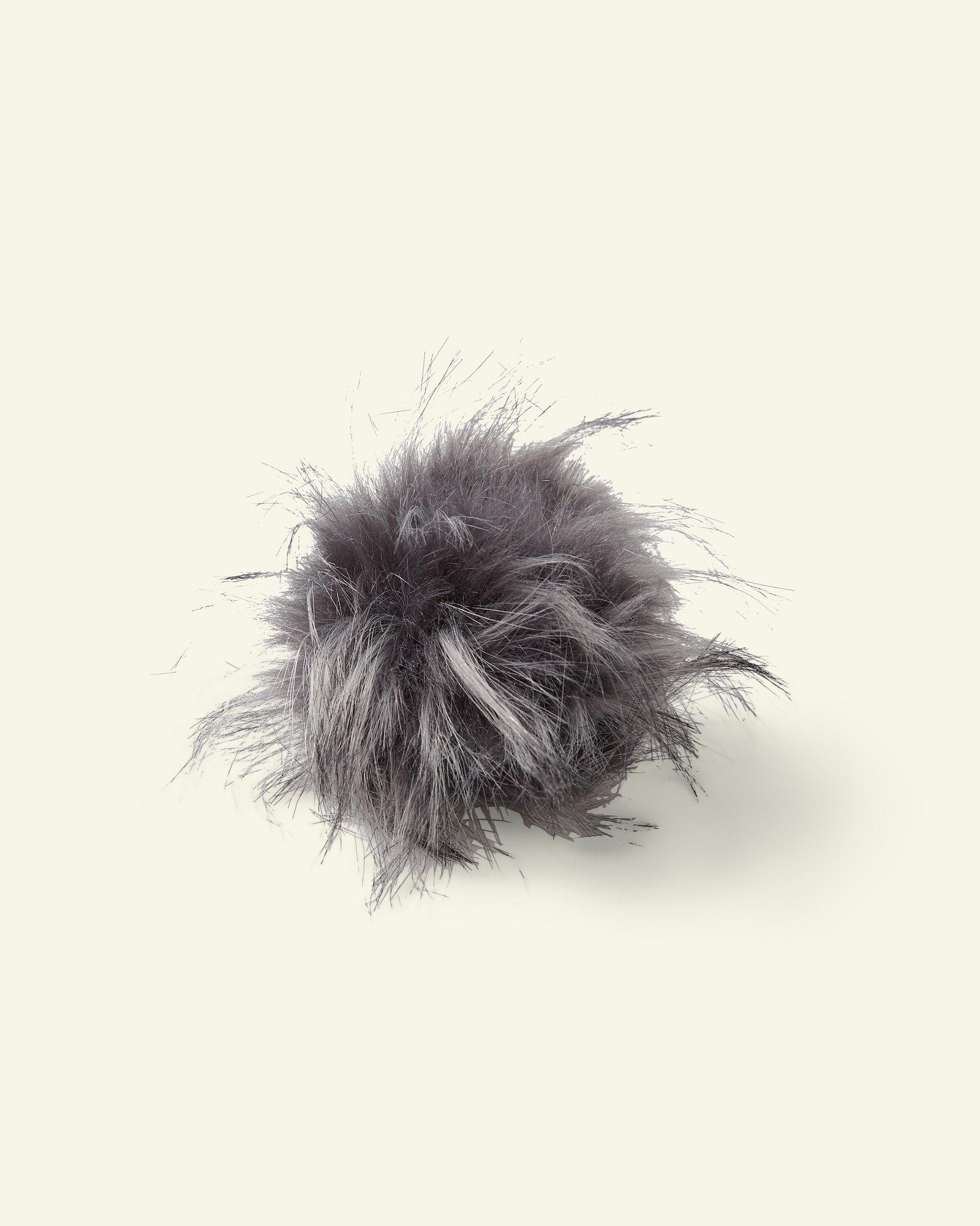 Pompon, 12cm Fellimitat Grau