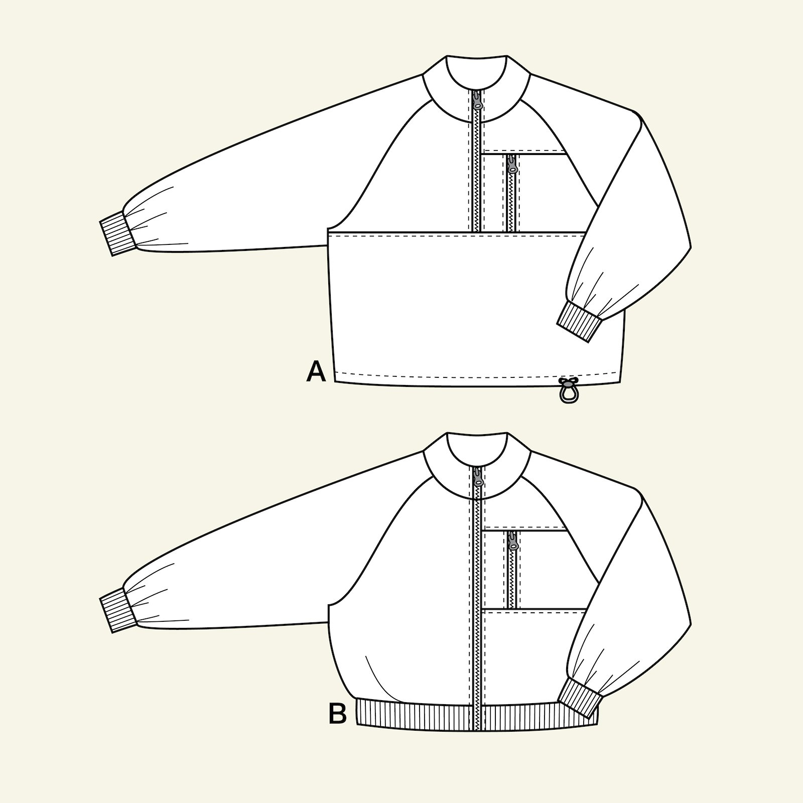 Anorak and jacket, 122/7y p64020_pack