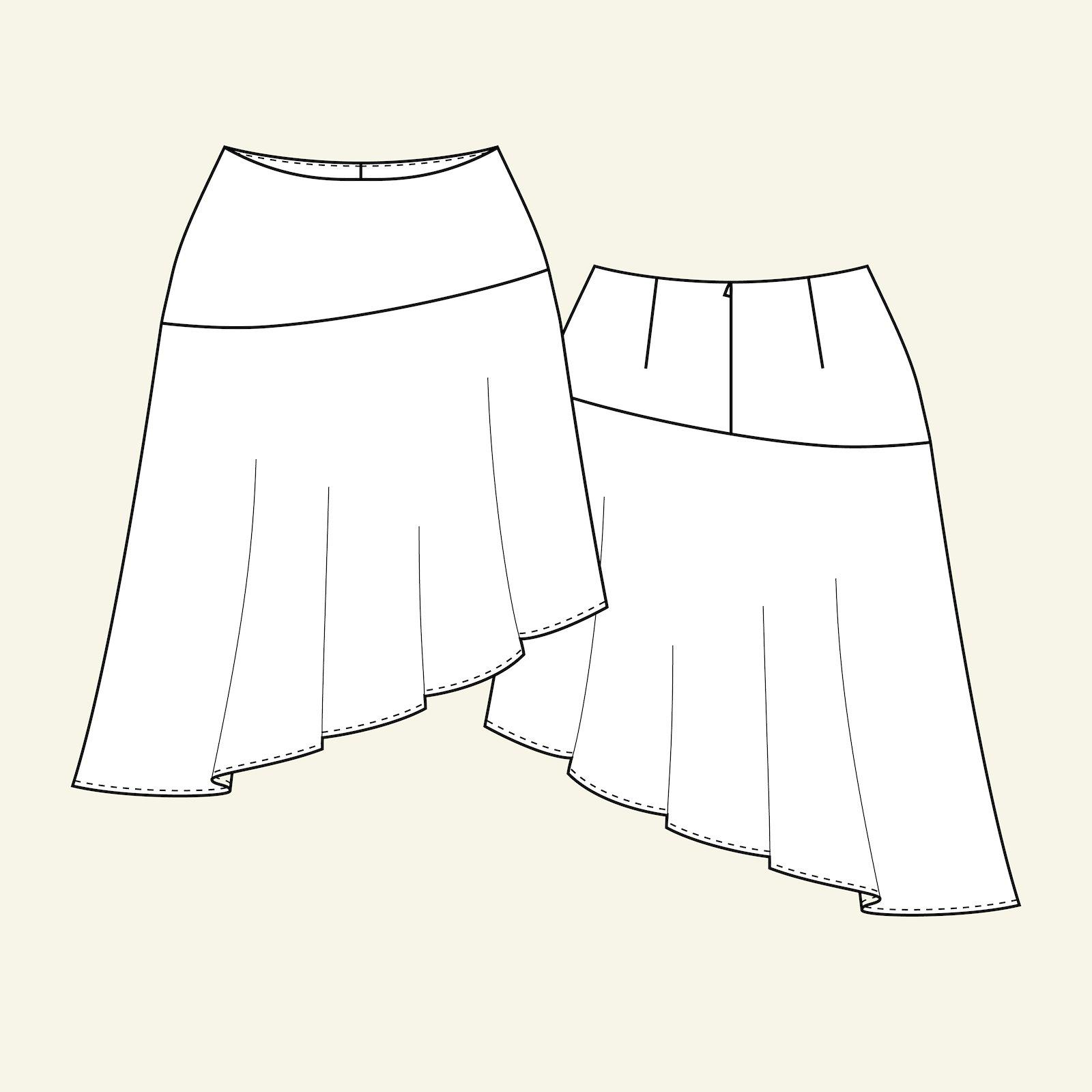 Asymmetric skirt, 38/10 p21041_pack
