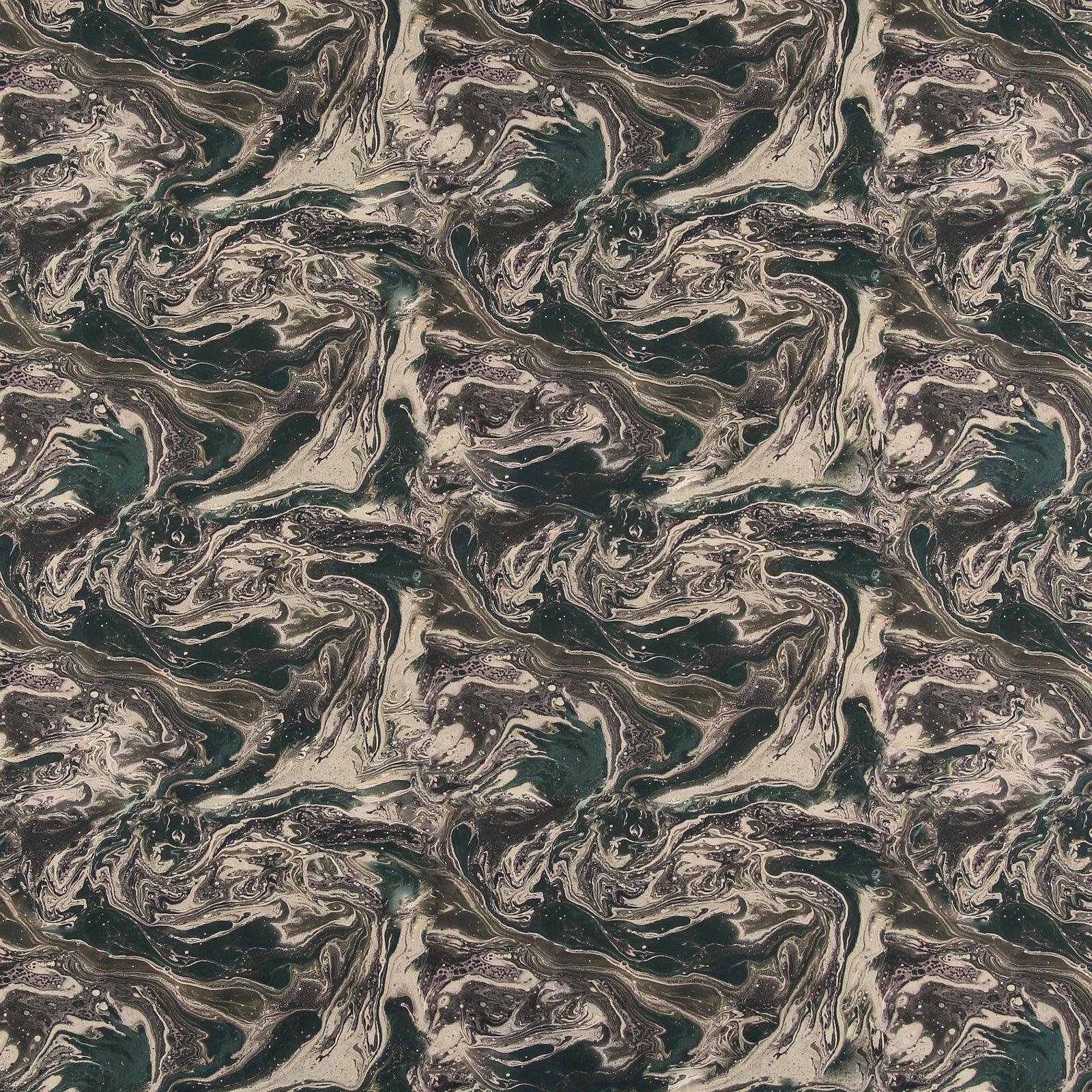 Baumwoll-Popeline Sand/Blau abstr. Print 540124_pack_sp