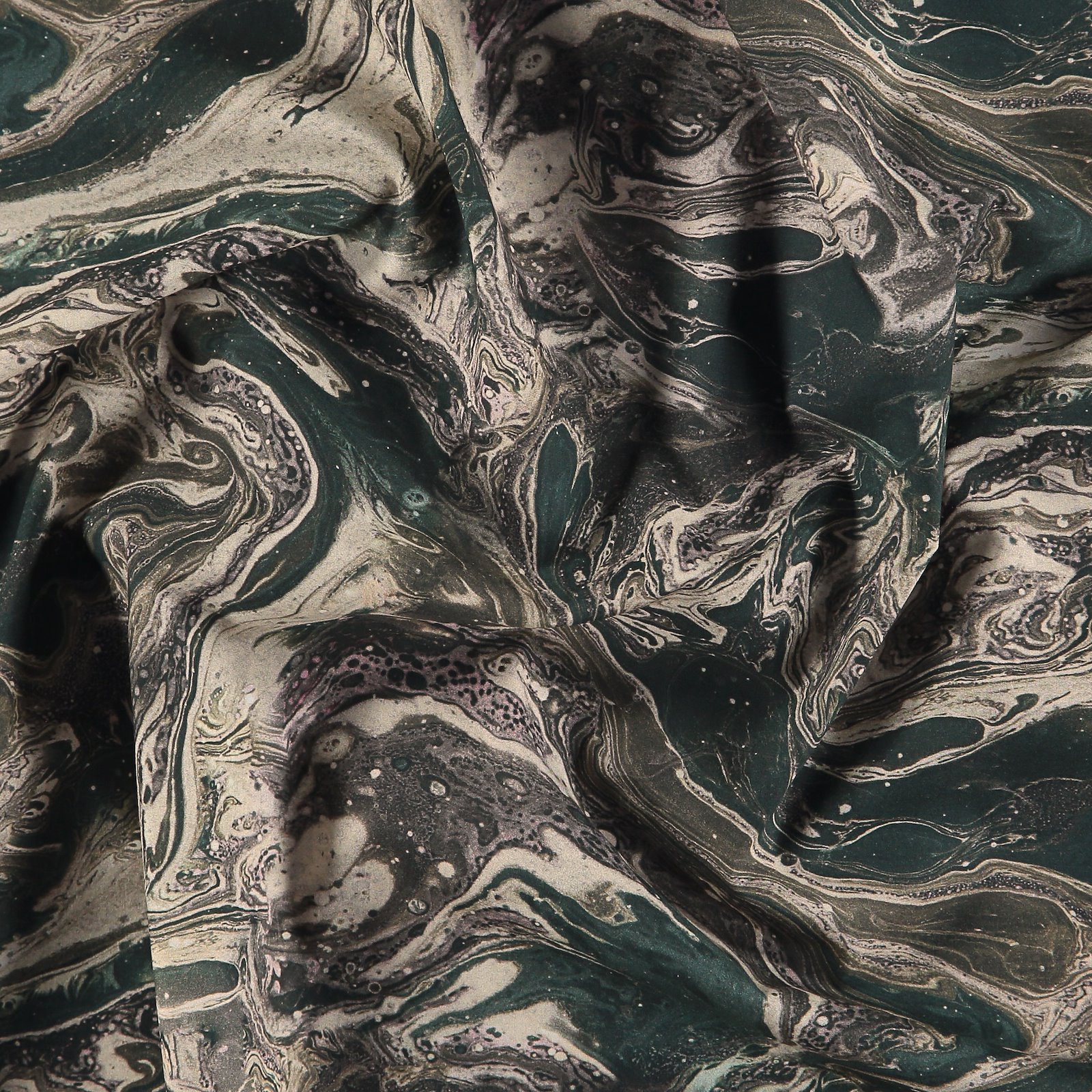 Baumwoll-Popeline Sand/Blau abstr. Print 540124_pack