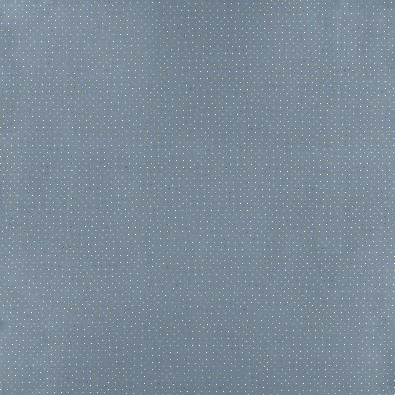 Baumwolle, Blaugrau mit goldenen Punkten 852412_pack_sp