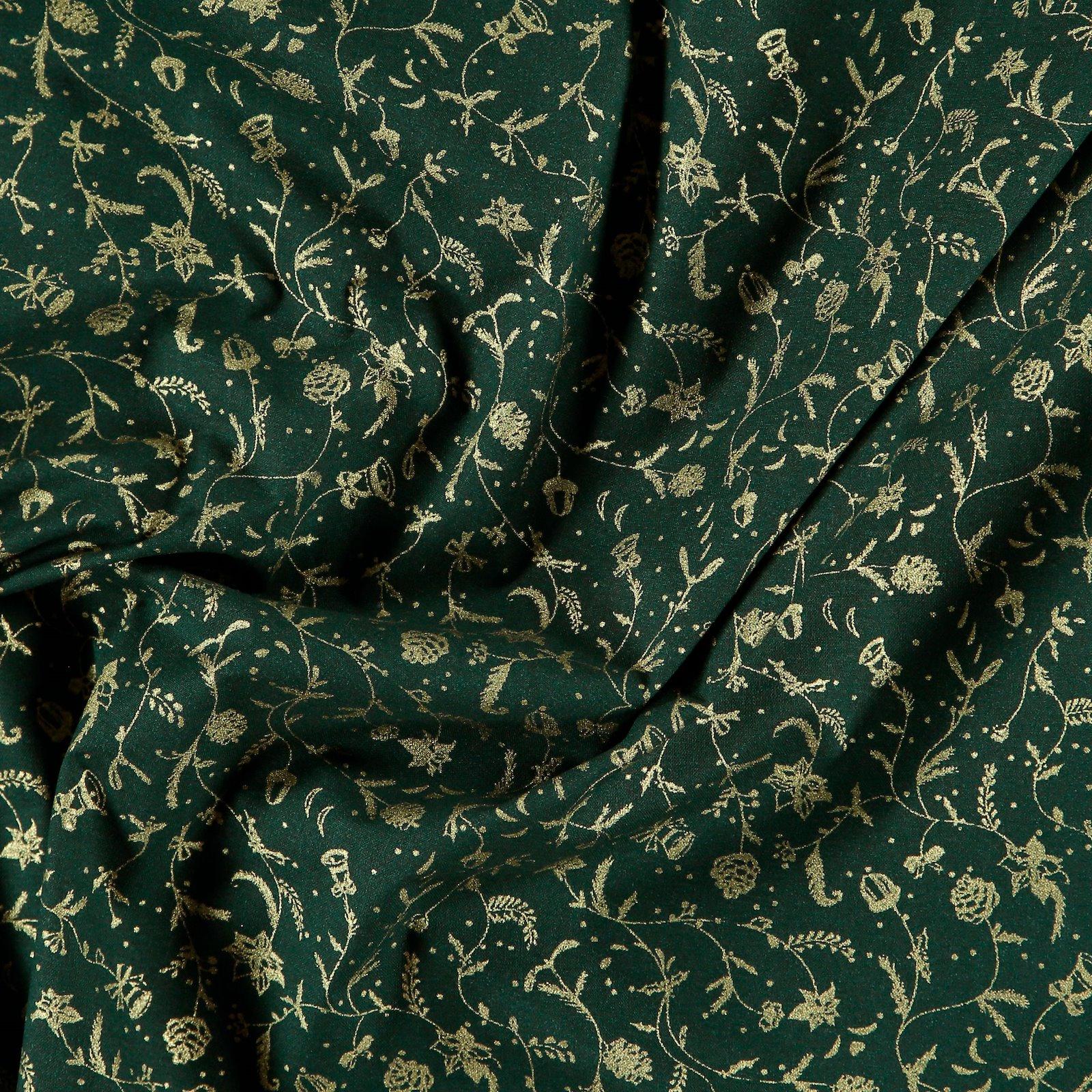Baumwolle, Flaschengrün, Weihnachtsprint 790140_pack