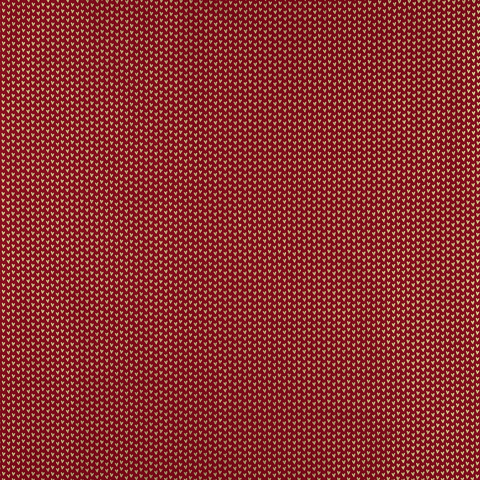 Baumwolle, Klassisch rot, gold. Herzen 852397_pack_sp