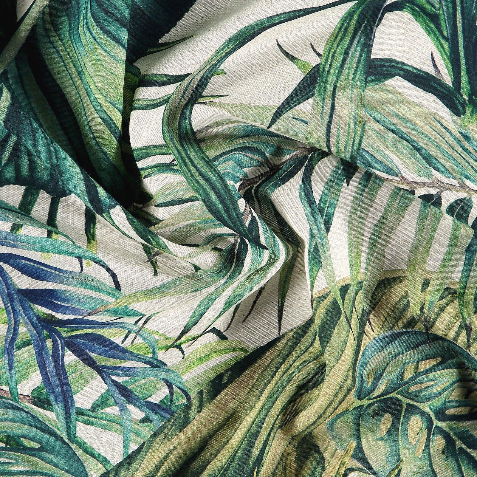Baumwolle/Leinen gewebt, Natur/Blätter 780588_pack