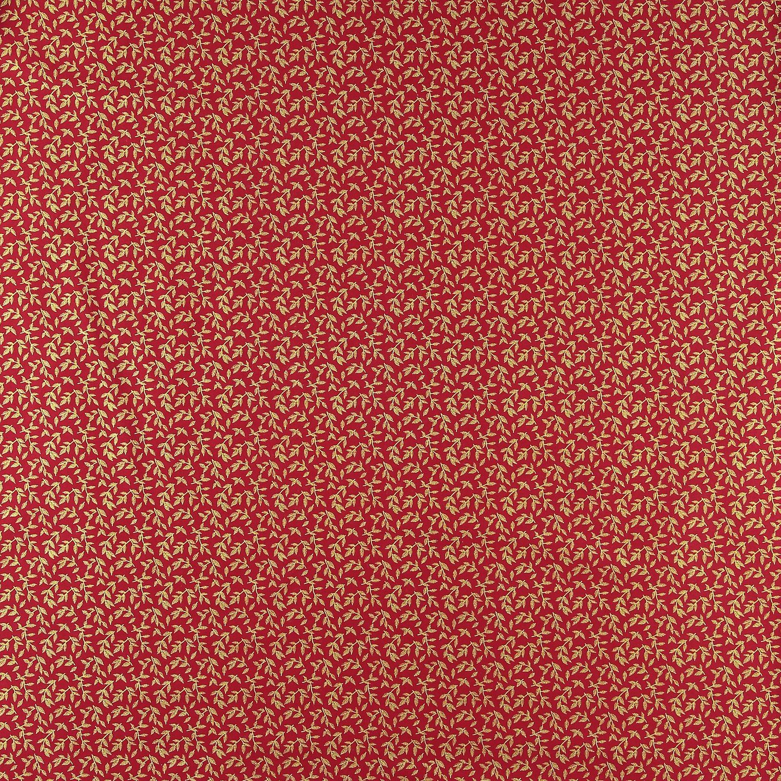 Baumwolle, Rot mit goldenen Blättern 852325_pack_sp