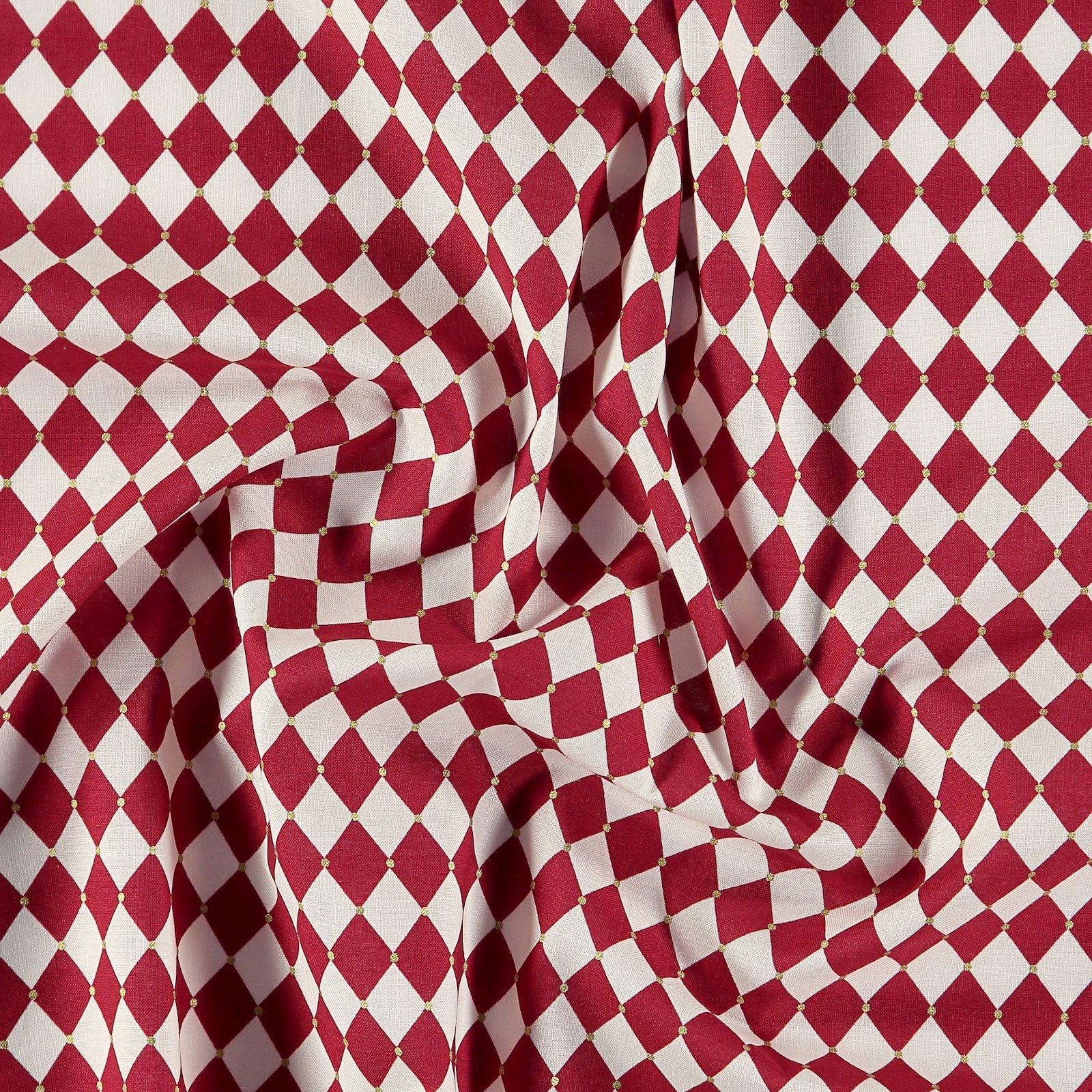 Baumwolle, Rot/Weiß Harlekin kariert 852395_pack