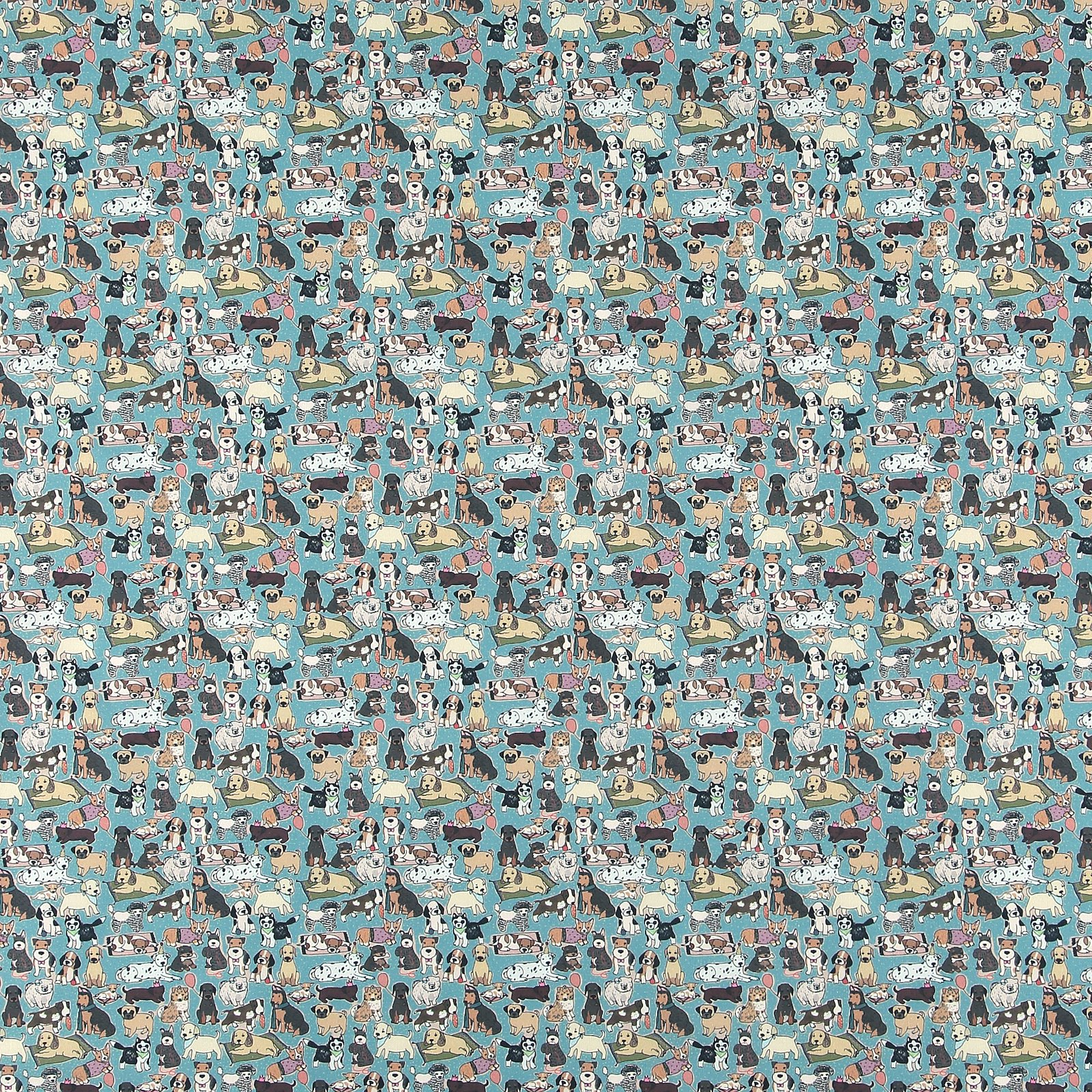 BCI cotton dusty aqua blue with dogs 780560_pack_sp
