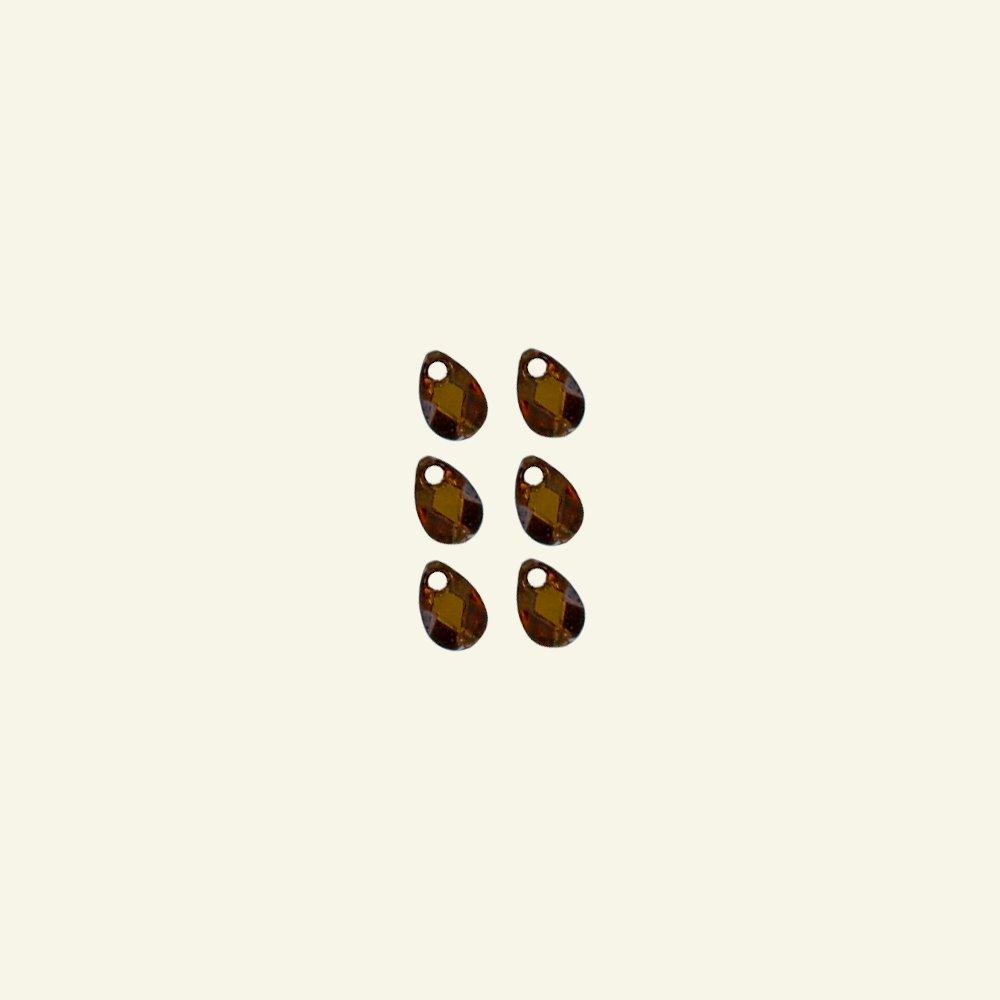 Bead 10x7mm olive 6pcs 45407_pack