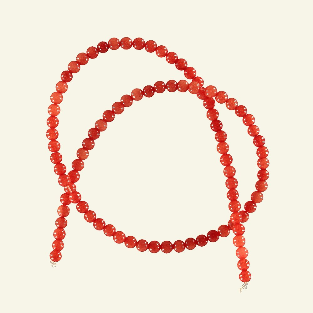 Bead colored jade 4mm light red 90pcs 46001_pack