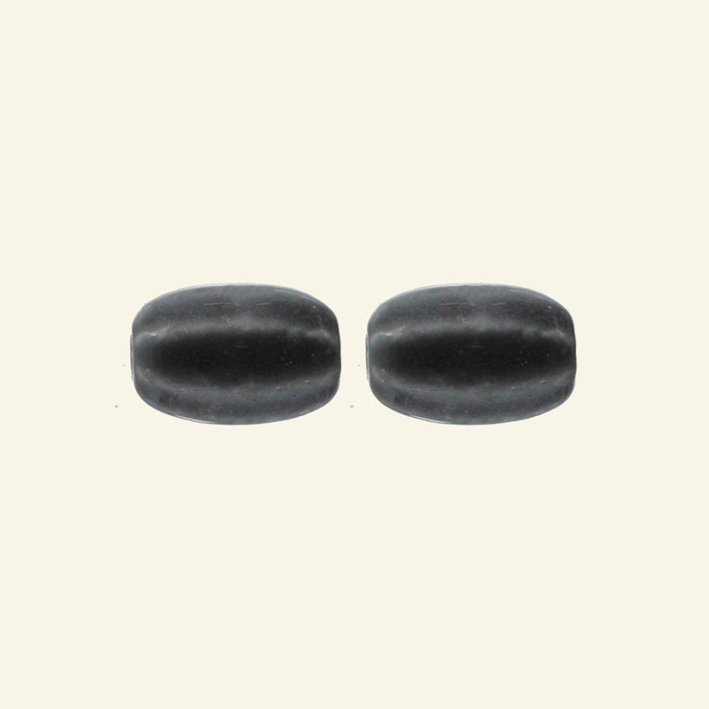 Bead porcelain 14x21mm grey 2pcs 46953_pack