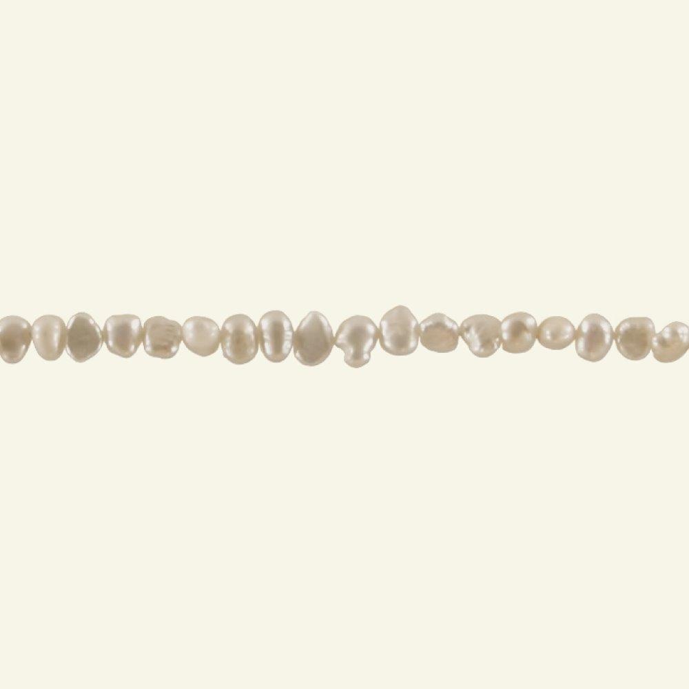 Beads freshwater 4-7mm white 40pcs 45440_pack