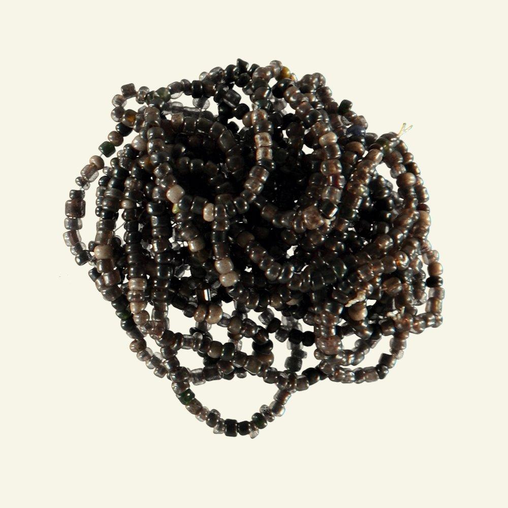 Beads glass 2-3mm black mix app. 1000pcs 45463_pack