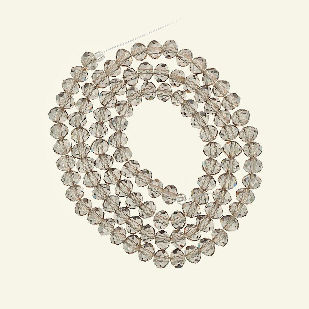 Beads glass 4x5mm transp. sand 100pcs 45929_pack