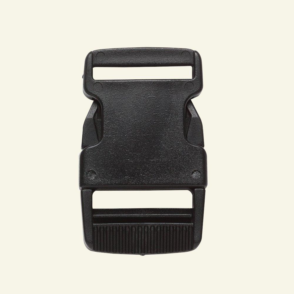 Belt buckle 25mm black 1pc 43263_pack