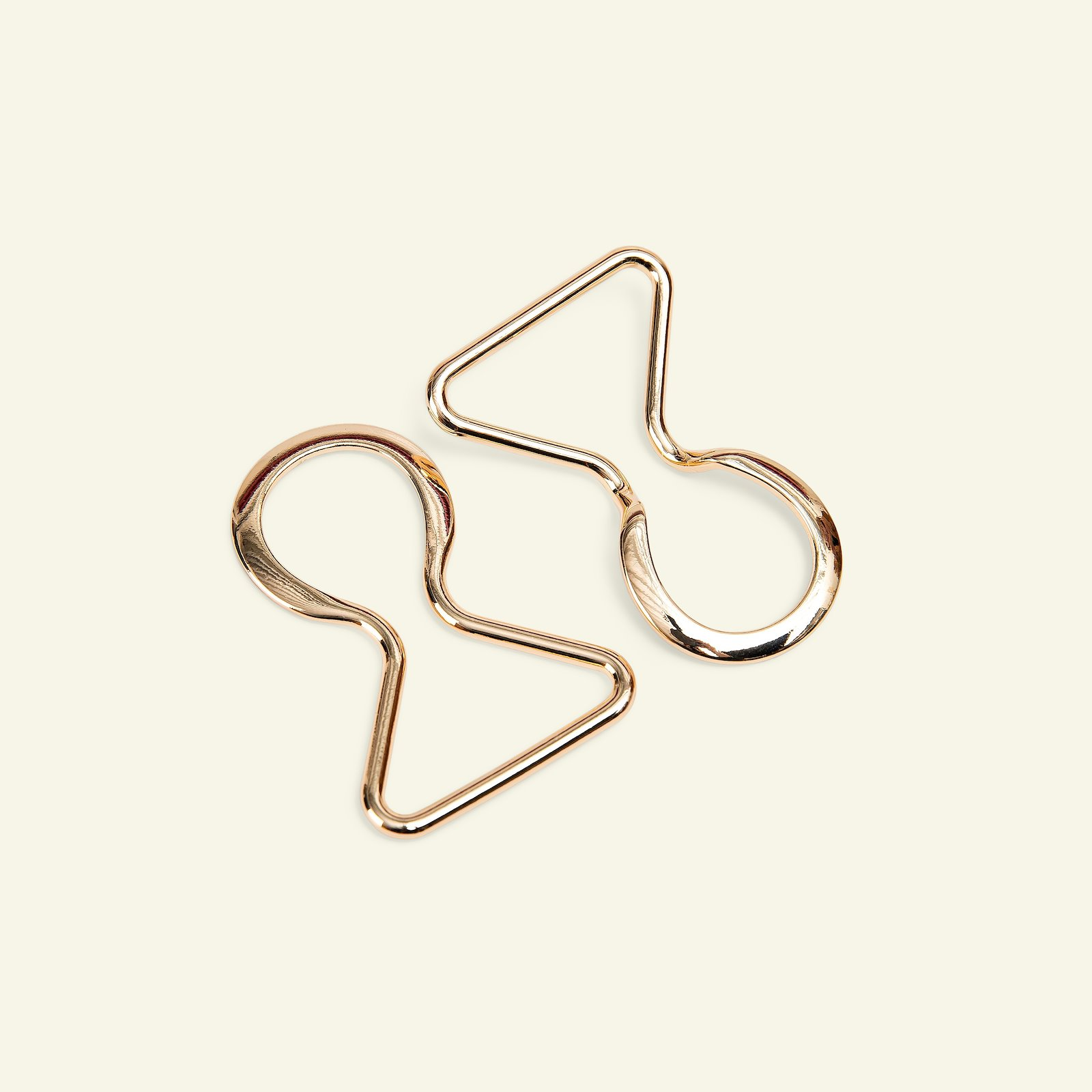 Beltbuckle metal 35mm gold 1pc 43232_pack