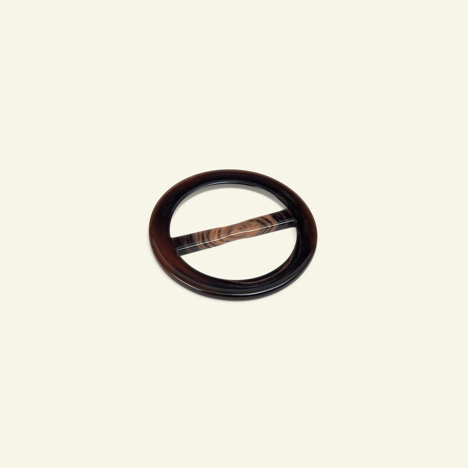 Beltbuckle round 57/40mm dark brown 1 pc 43233_pack