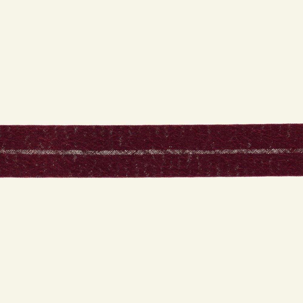 Bias tape cotton 18mm bordeaux 25m 68014_pack