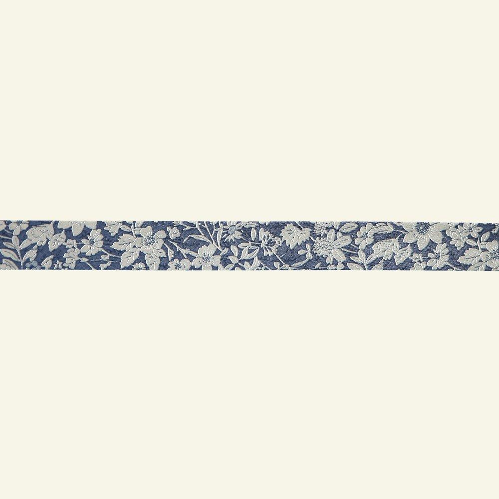 Bias tape cotton 18mm flower blue 3m 64034_pack