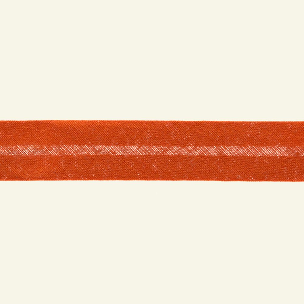 Bias tape cotton 18mm orange 25m 68006_pack