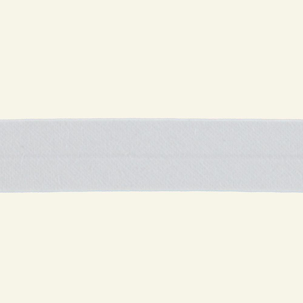 Bias tape cotton 18mm white 25m 68001_pack