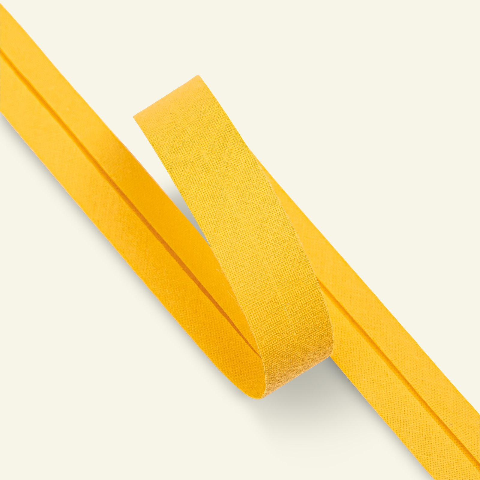 Bias tape cotton 18mm yellow 25m 68005_pack