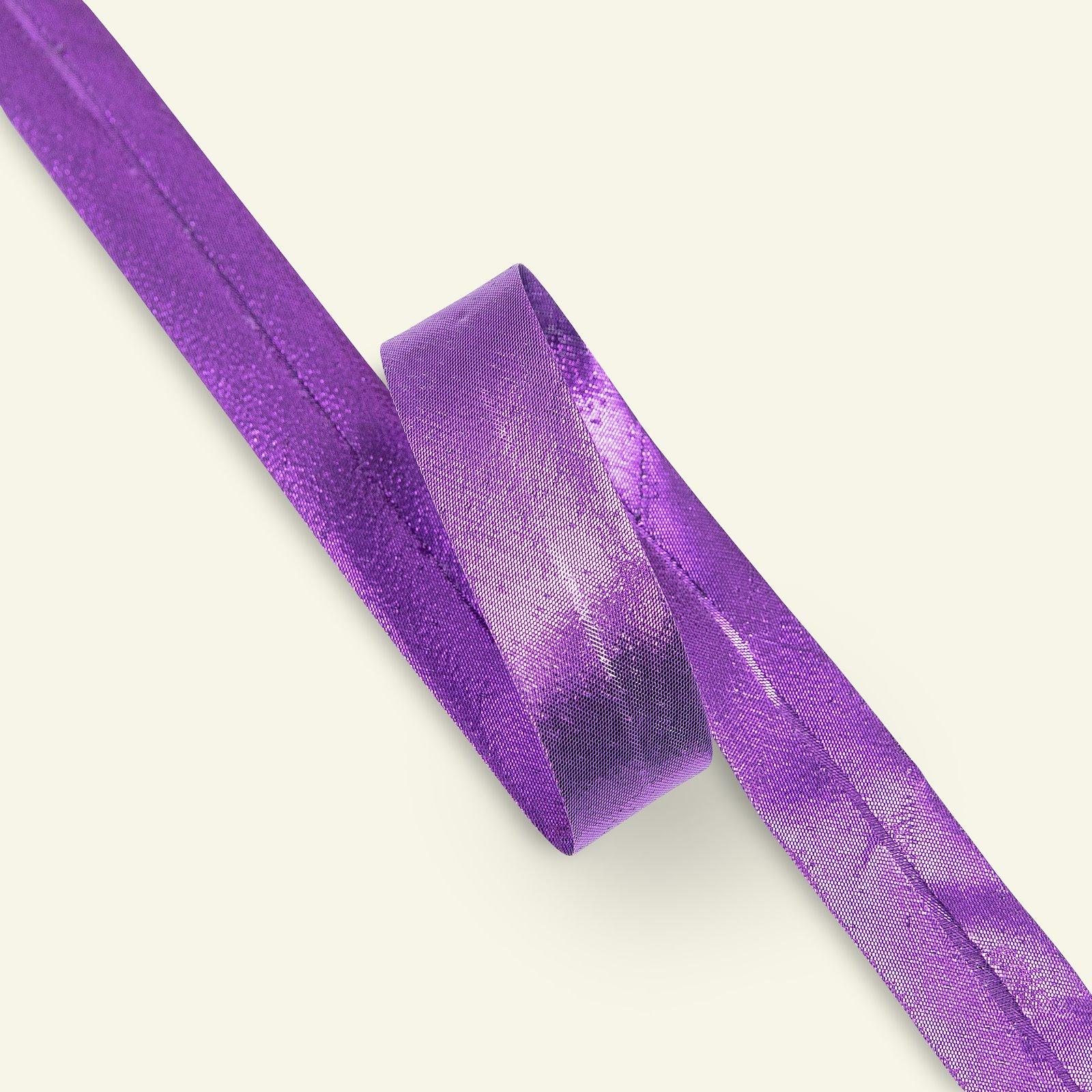 Bias tape LUREX 20mm purple metallic 3m 65065_pack