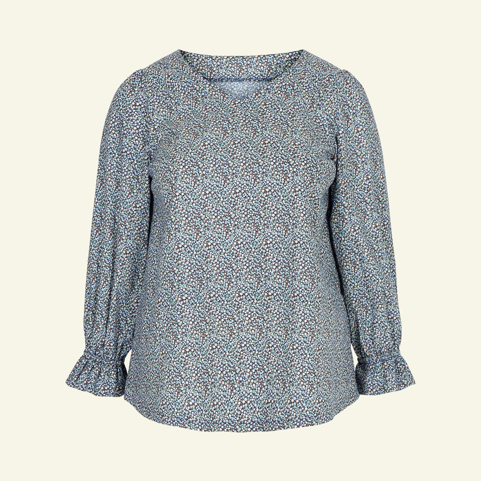 Blouse with long and short sleeve, 58/30 p72006_852408_sskit