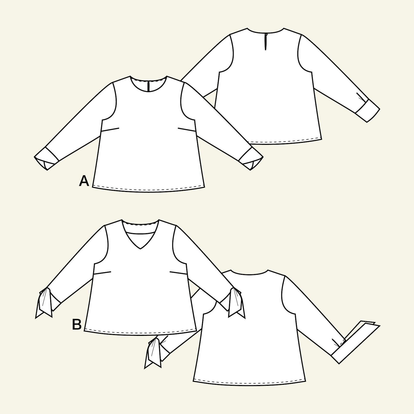 Blouse with sleeve variations, 38/10 p22067_pack