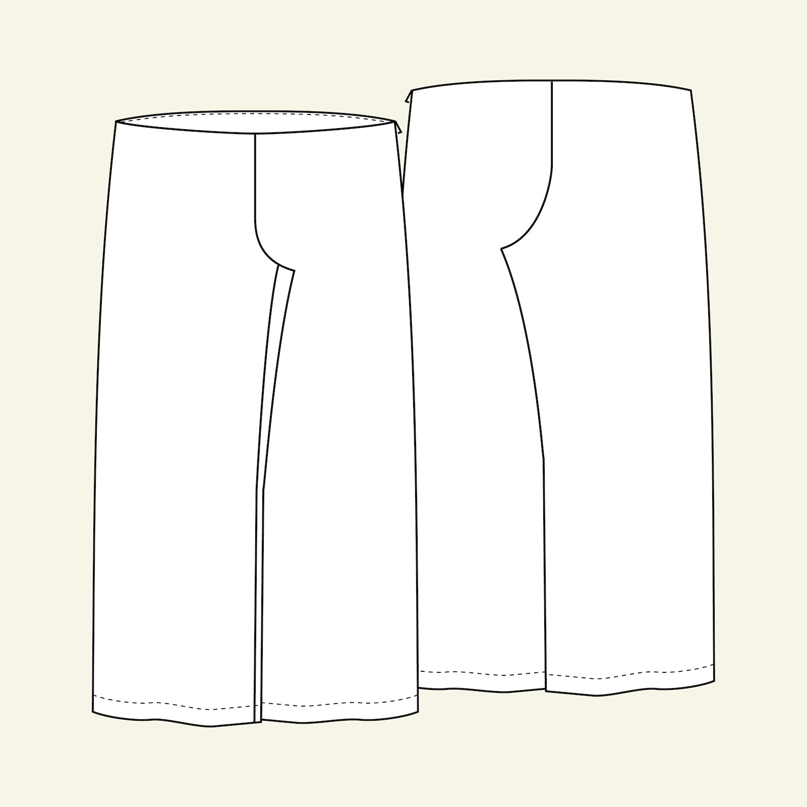 Boot cut trousers, 52/24 p70005_pack