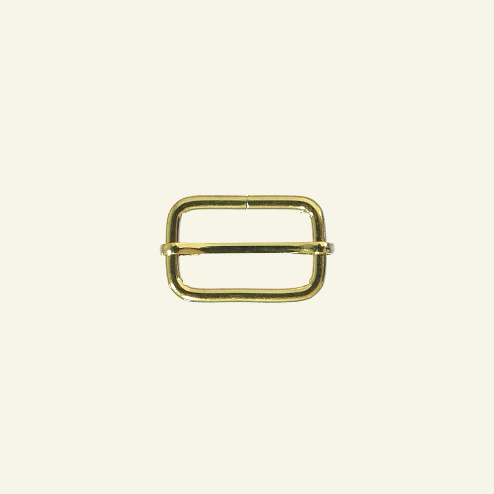 Buckle metal adjustable 32x20mm gold 1pc 45514_pack