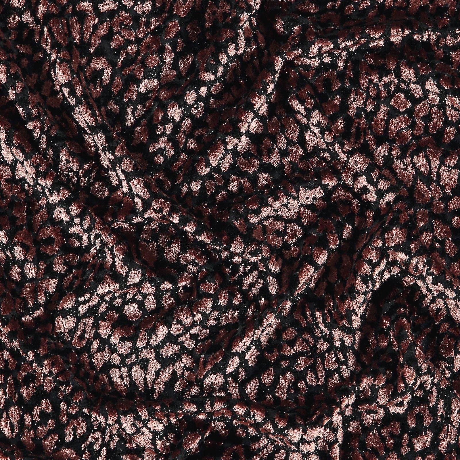 Burnout velour chestnut w animal print 250757_pack