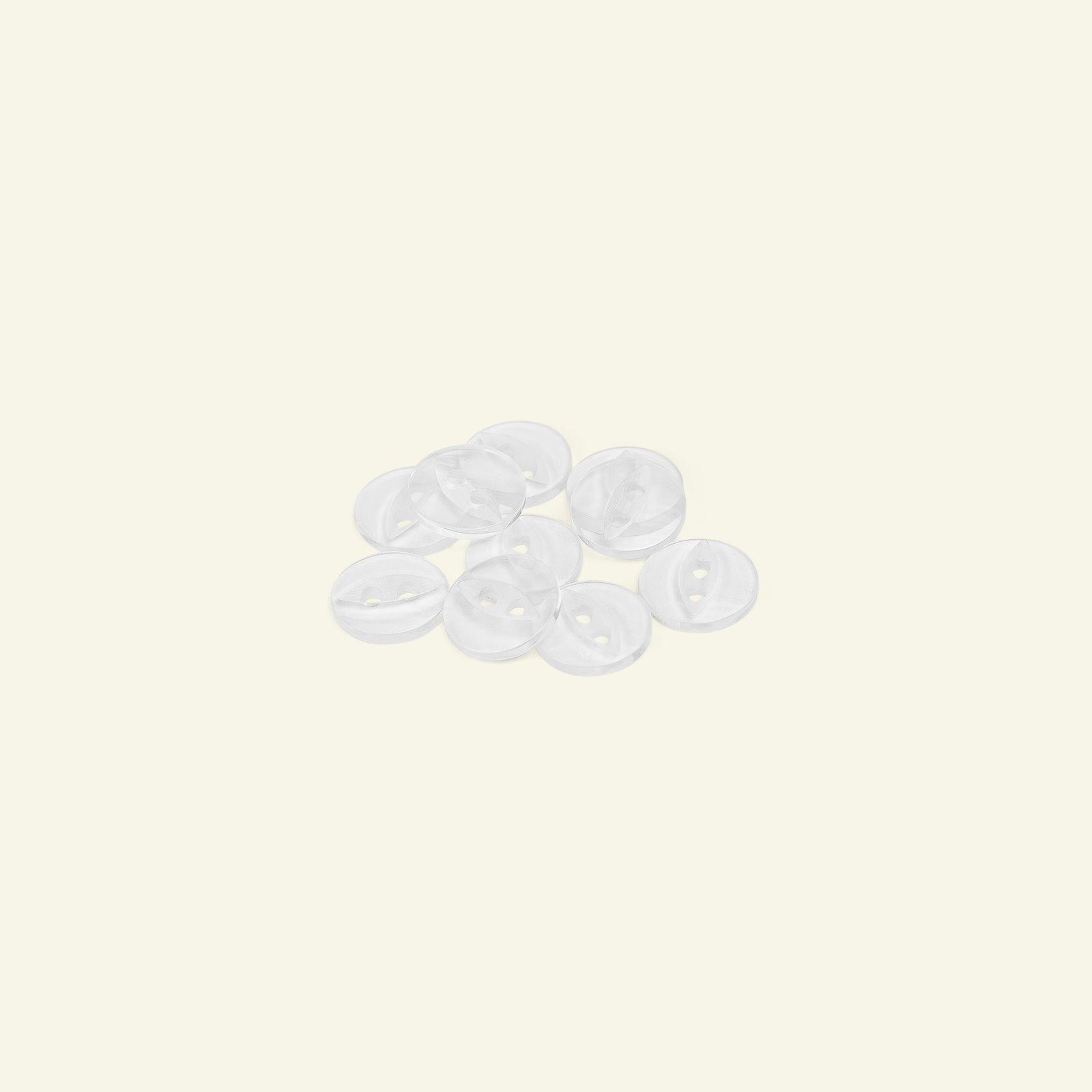 Button 2-holes 12mm clear 10pcs 33005_pack