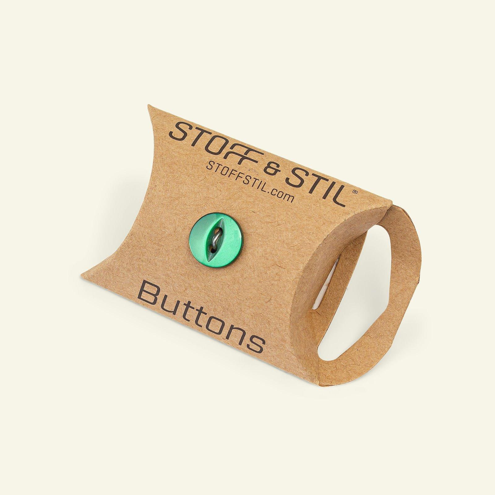 Button 2-holes 12mm emerald 10pcs 33215_pack_b
