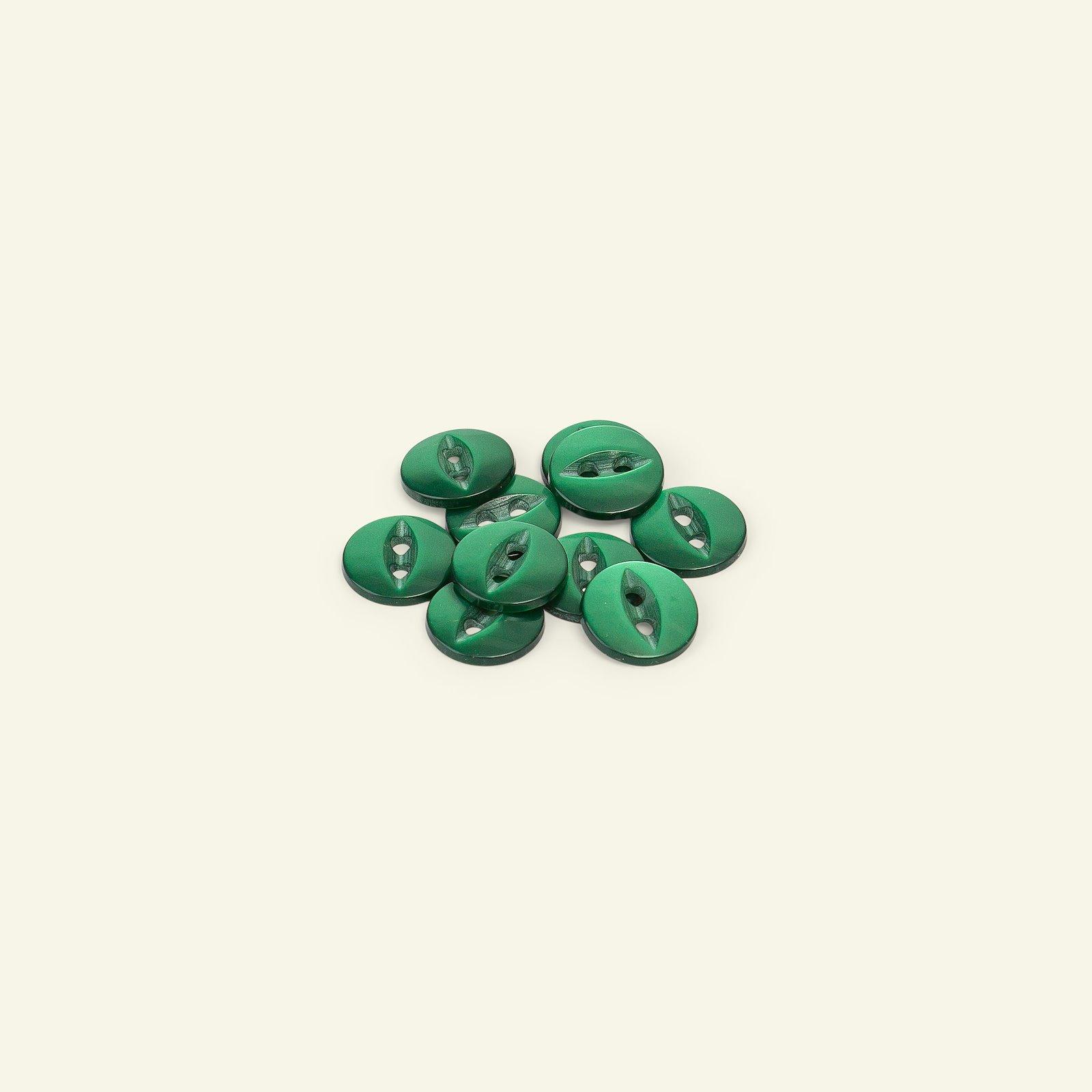 Button 2-holes 12mm emerald 10pcs 33215_pack