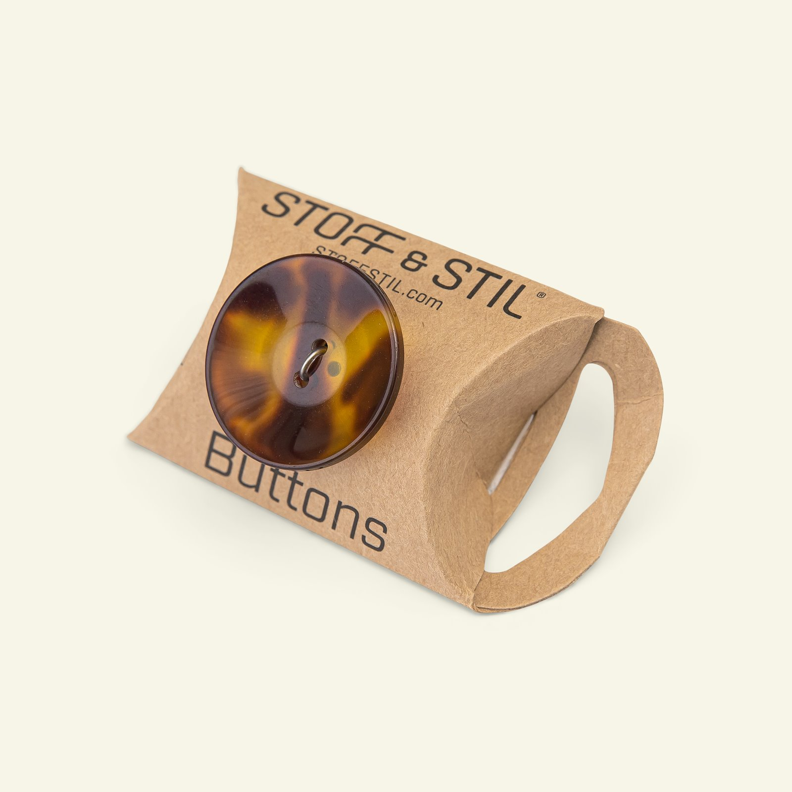 Button 2-holes 27mm brown 4pcs 33420_pack_b